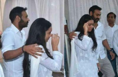 Ajay Devgn's daughter Nyasa broke down in grandfather Veeru Devgn prayer meet