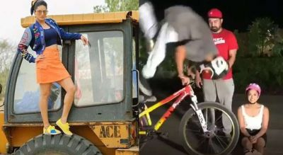 After JCB, now Sunny Leone starred cycling!