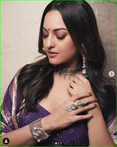 Sonakshi created rage in a traditional look, fans praise her