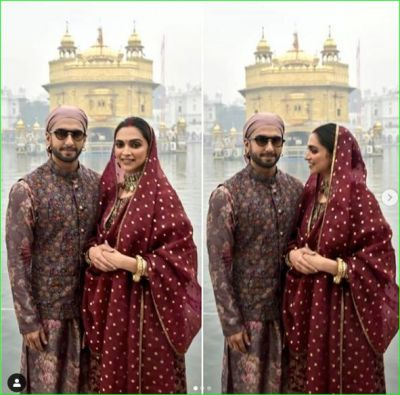Ranveer Singh and Deepika Padukone seek blessings at Sri Harmandir Sahib