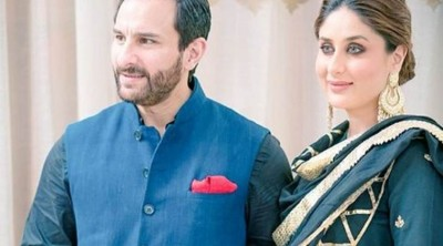 Taimur goes for walk with father Saif and mother Kareena, Watch video