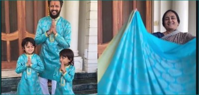 This actor made Diwali dress by recycling mother's old sari