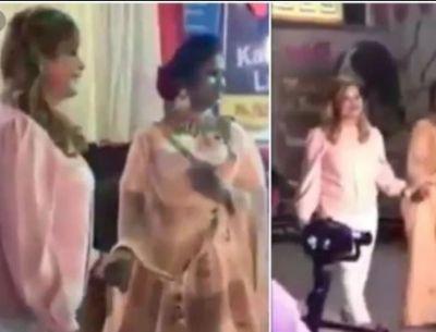 Ranu Mondal walks on ramp by doing unique makeup, fans mocked internet sensation
