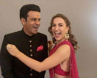 मनोज बाजपेयी की मूछें खींच कर खूब हँसी यह अभिनेत्री, वीडियो हुआ वायरल