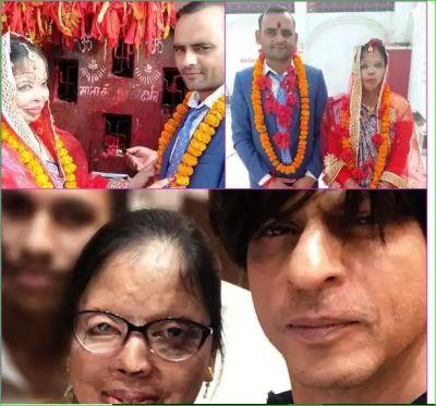 एसिड अटैक सर्वाइवर को शाहरुख़ ने दी शादी की बधाई, फोटो शेयर कर लिखी यह बात