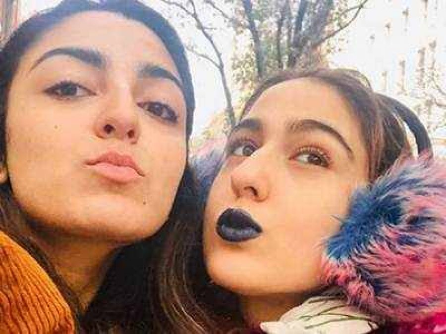 Sara Ali Khan seen pouting with friends in New York, see pictures