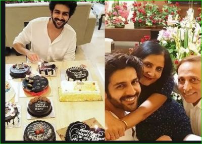 Kartik celebrated birthday with his parents, pictures going viral