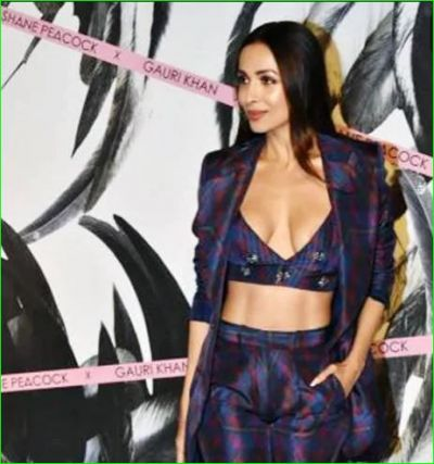 Malaika Arora's deep neck crop top slipped in the event, watch video here