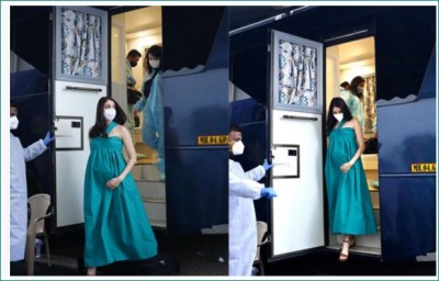 Anushka Sharma reached the shoot during pregnancy, looks beautiful picture here