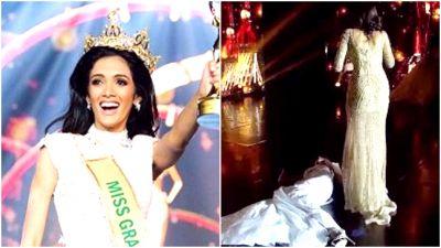 Video : 'मिस ग्रैंड इंटरनेशनल' का ताज जीतते ही ख़ुशी के मारे बेहोश हो गई मॉडल
