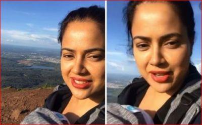 Sameera Reddy climbs Karnataka's highest peak with 2-month daughter Nyra, watch video here