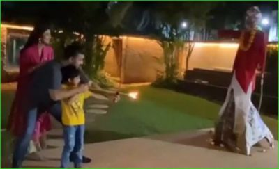Shilpa Shetty did Ravan Dahan with husband and son, video going viral