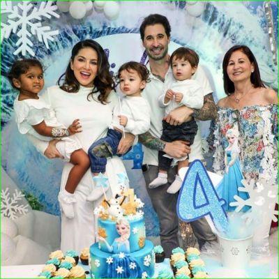 बेटी के जन्मदिन पर सनी ने रखी 'फ्रोजन' थीम, मंगाया प्रिंसेस केक