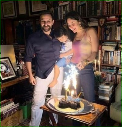 Taimur looked happy on Saif- Kareena's wedding anniversary, see pictures