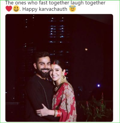 Karvachauth: Anushka looks very beautiful with her husband Virat, these cricketers also shared pictures