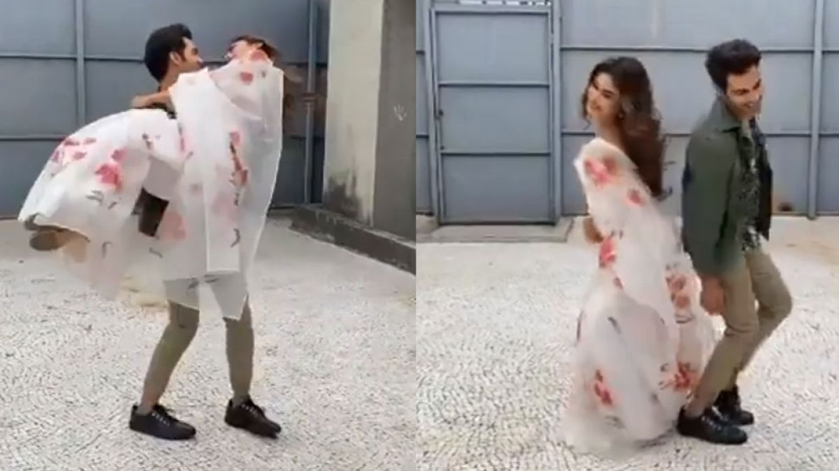 Rajkummar Rao and Mouni Roy were seen doing a romantic dance, check out video here