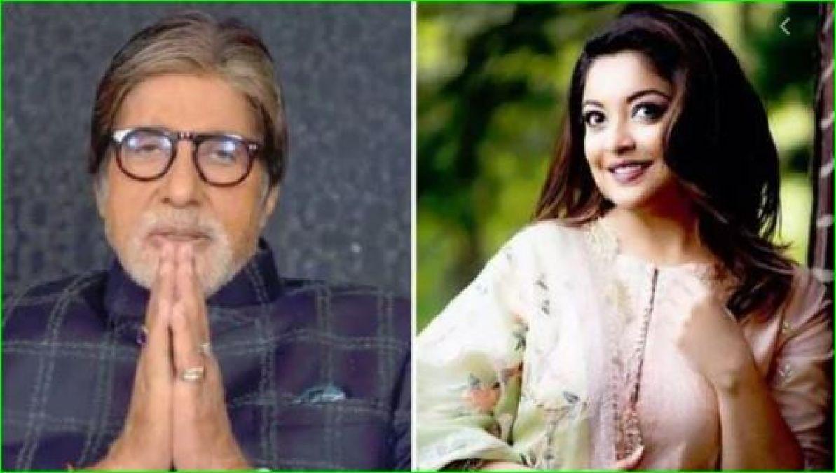 Amitabh praised Tanushree Dutta, now the actress' reaction came