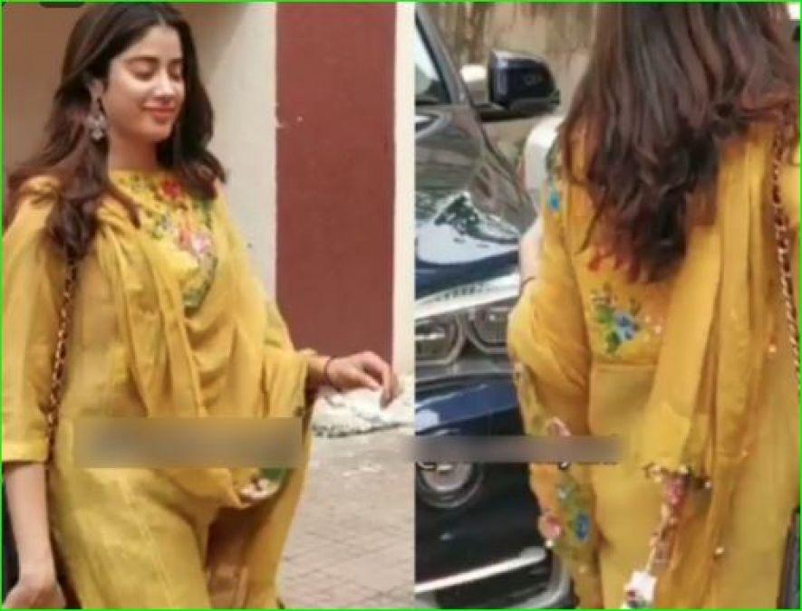 Jahnavi Kapoor gets trolled for wearing salwar-kameez