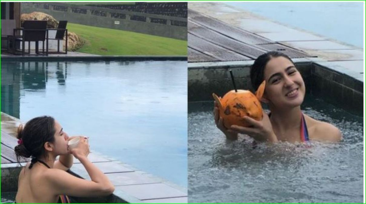 Sara Ali Khan was seen showing her sexy figure in a bikini, fans go-la-la!