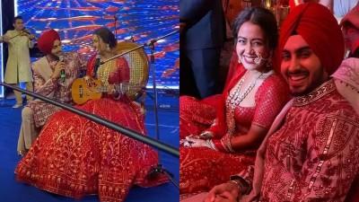 Neha Kakkar sings romantic songs for her husband at wedding