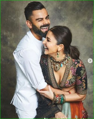 Virushka looked very beautiful in the celebration of Diwali, pictures go viral