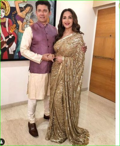 Madhuri Dixit looks very attractive at Diwali party, shared picture