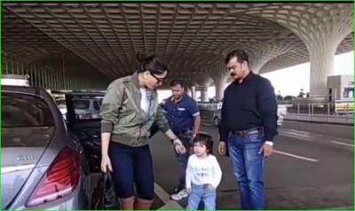 Video: एयरपोर्ट पर मम्मी करीना पर भड़कें तैमूर, गुस्से में निकल गए आगे...