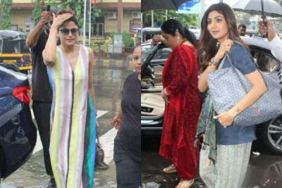Shilpa Shetty seen with mother and sister in Mumbai rain, check out pic here