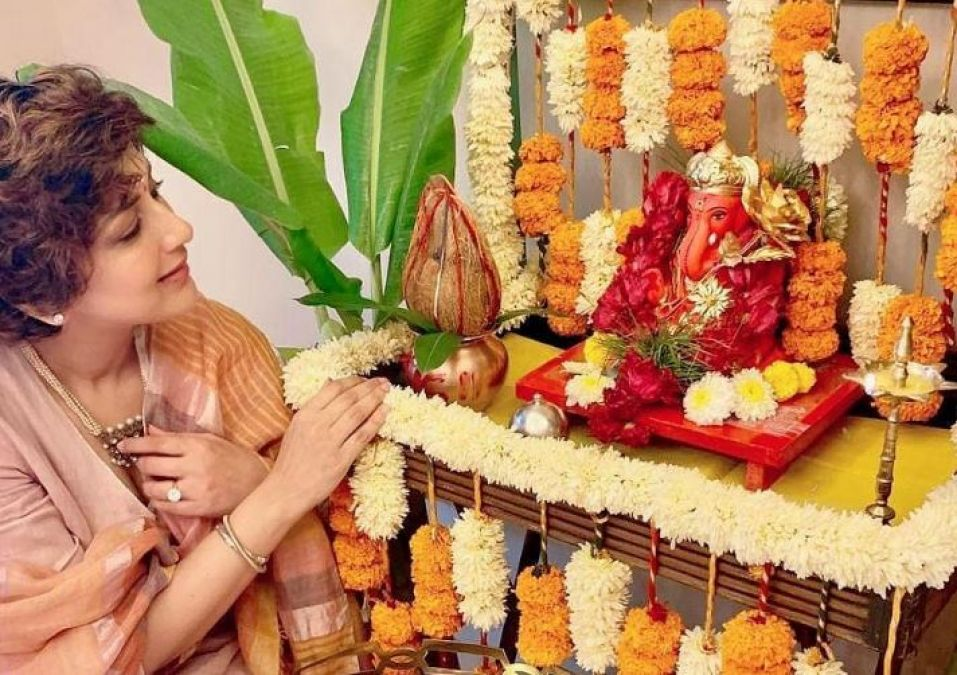 Sonali Bendre welcomes Ganpati Bappa at home, shared an emotional post