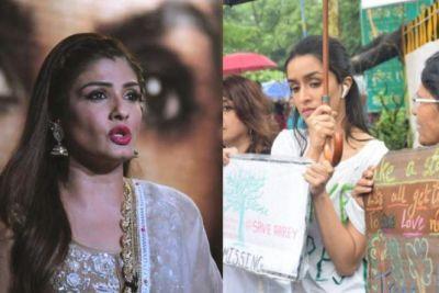 Bollywood stars on the road, Shraddha-Raveena-Esha protest against the government