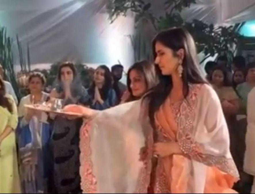 Katrina Kaif joins Salman Khan's family for Ganpati aarti, video goes viral