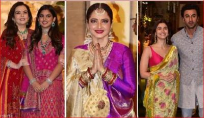 Ganeshotsav celebrated in the Ambani family, celebs seen in traditional style