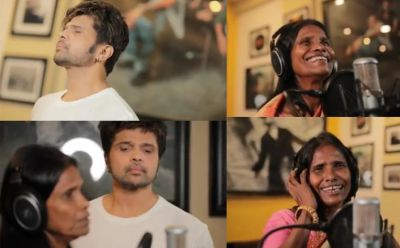Himesh records 'Aashiqui Mei Teri' song in the voice of Ranu Mondal