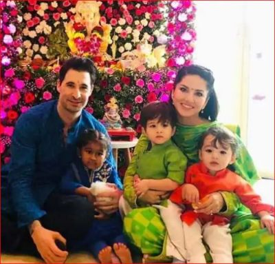 Sunny and her husband celebrate Ganesh Chaturthi in this way
