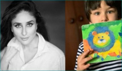 Taimur was seen indulged in art and craft, mother Kareena shared photos!