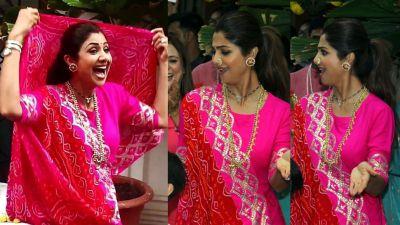 VIDEO: Shilpa dances her heart out on Ganesh Visarjan