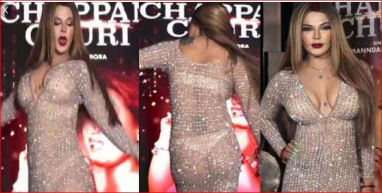 Everything was clearly shown in a transparent dress, Rakhi Sawant cried - Husband does not understand