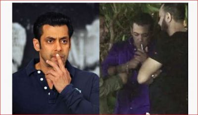On the occasion of Ganesh immersion, Bhaijaan was spotted smoking; see Viral Video!