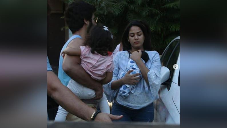 शाहिद कपूर का परिवार हुआ पूरा, सामने आईं तस्वीरें