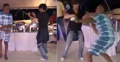 जीत की ख़ुशी में शाहरुख़ ने किया ब्रावो संग लुंगी डांस