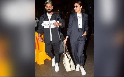 'Virushka' returns to India after the test series against West-Indies