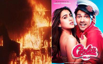 Coolie no.1 : वरुण-सारा की फिल्म के सेट पर लगी आग..
