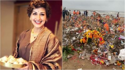 Seeing the waste of Ganesh immersion, Sonali Bendre said this...
