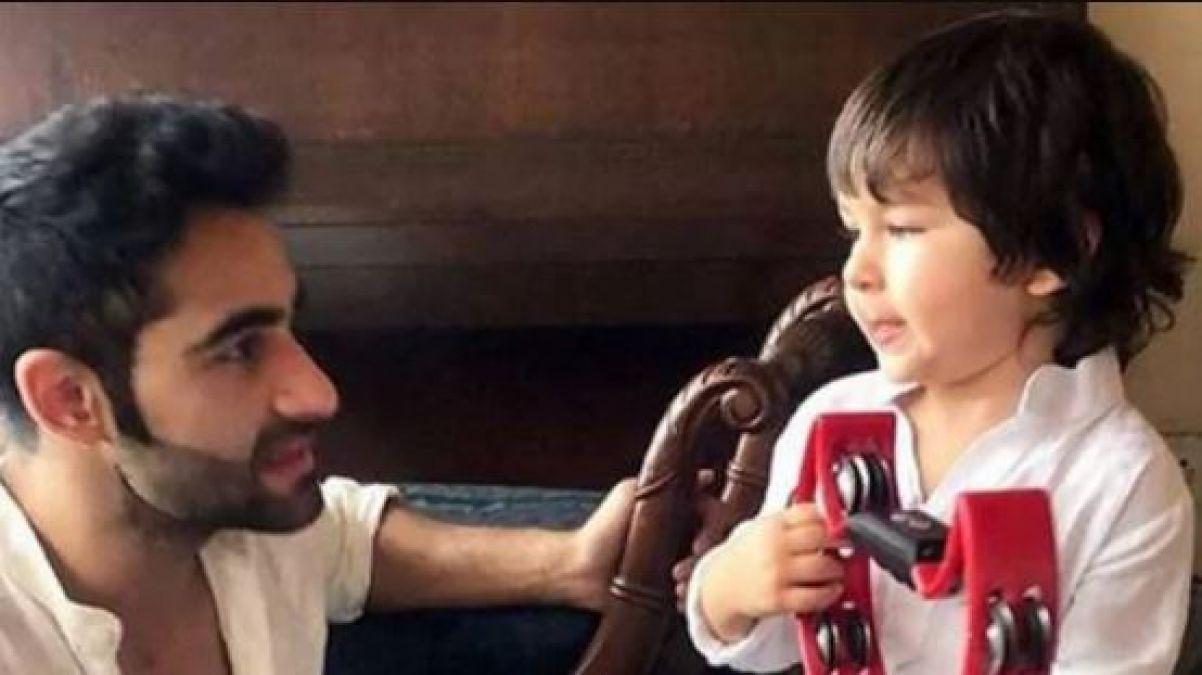 VIDEO : मामा से बेहद प्यार करते हैं तैमूर, अरमान ने इस तरह लगाया गले