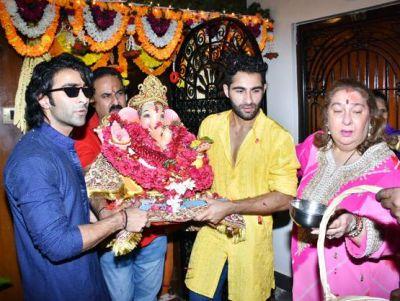 Kareena's maternal aunt also gave farewell to Bappa, Taimur's maternal uncle Armaan-Aadar danced fiercely
