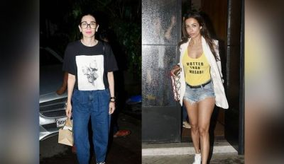 Malaika was seen wearing shorts on dinner date with these Bollywood beauties