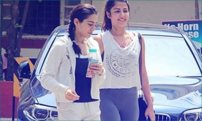 SSR Death Case: Rhea Chakraborty's pictures with Rakul Preet Singh, Sara Ali Khan going viral after drug angle came to fore