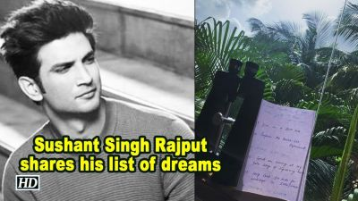 Sushant Singh Rajput shares his list of 50 dreams