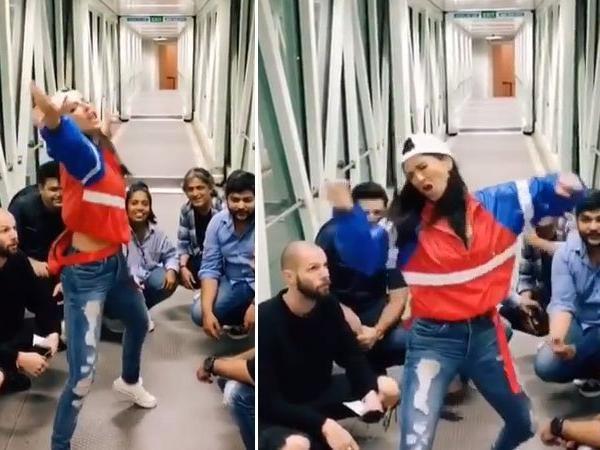लड़कों के बीच डांस करती नज़र आई सनी, वायरल हो रहा वीडियो