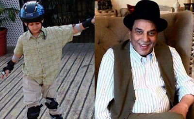 Dharmendra shares throwback photo of grandson Karan Deol